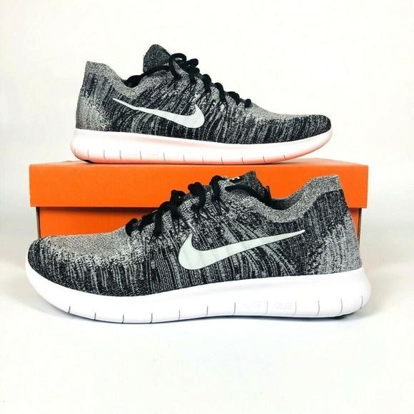 ad8ce7168b619 Nike Free RN Run Flyknit 2017 Oreo